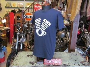 TRASH DEPT オリジナル ENGING Tシャツ / NAVY