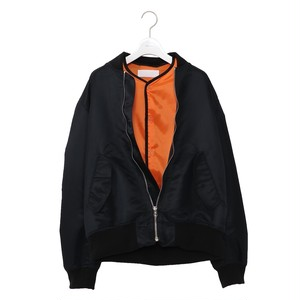 Sandwich Bomber Jacket -BLACK- / NEON SIGN