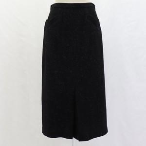 USA 60's Vintage  Tight Skirt Nep pattern Black アメリカ  60年代 ヴィンテージ ネップ柄 かすり柄 ウール スカート ブラック 黒