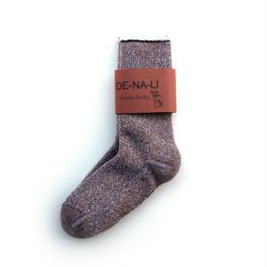 DE-NA-LI × fridge Cashmer Suave Socks / Brown