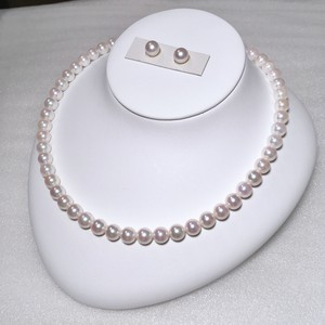 アコヤ真珠ネックレス7.5-8.0mm ペア珠セットケース付き