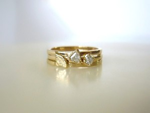 ダイヤとリーフのセットリング