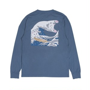 RIPNDIP - Great Wave L/S (Slate)