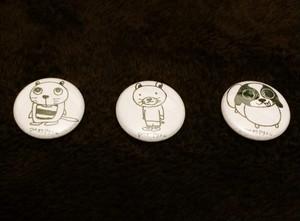 アサカワアサシン 缶バッヂ 3種セット