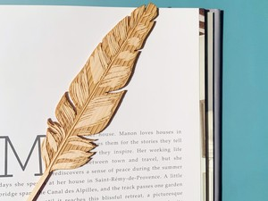 New wooden feather
