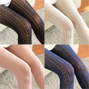 「lace  tights」黒/オフ白/ネイビー/ピンク
