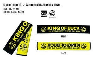 KING OF BUCK 10 × 24karats COLLABORATION TOWEL