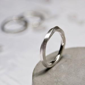 シルバーツイストリング 2.0mm幅 マット 3号~27号|WKS TWIST RING 2.0 sv matte|SILVER950 銀 指輪 FA-268