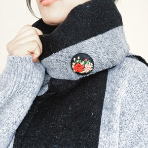 牡丹の花束・刺繍ブローチ