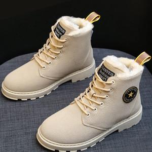 【シューズ】新作合わせやすいイングランド風暖かいショート丈ブーツ
