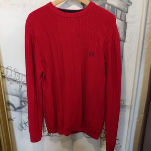 CHAPS one point logo knit