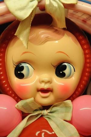 ポストカード セルロイド人形の可愛い顔