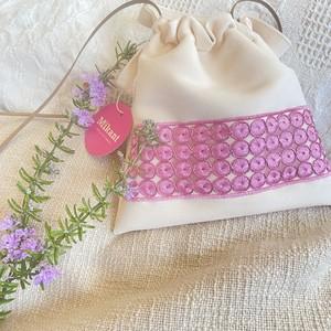 Lax micro Bag ホワイト×ピンク