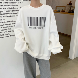 Front barcode design sweat LD0456