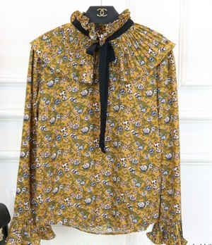 花柄リボンブラウス(Yellow)