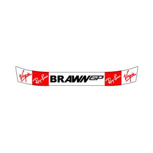 ヘルメット バイザーステッカー ブラウンGP BRAWN GP (赤) アライ Arai GP-5・GP-5S・SK-5・GP-6・GP-6S・SK-6ヘルメット対応