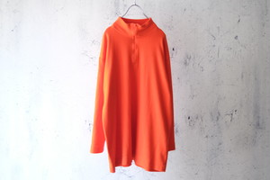 orange half zip knit