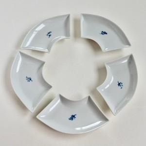 [NO.011] 九谷焼 扇皿 昭和 / Kutani Fan-shaped Plate / Showa Era