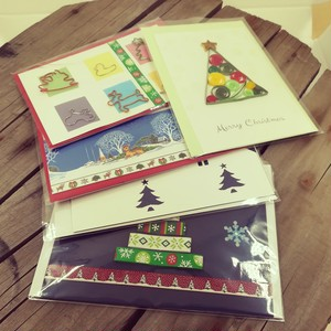 クリスマスカード はがきサイズ アソート5枚セット