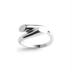 Cut cross silver ring
