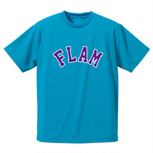 "FLAM  ""ARCH LOGO Tee"" - Turquoise Blue -"