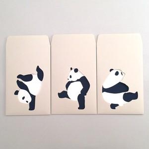 ユニーク紙雑貨 切り絵のぽち袋 ダンシングパンダ