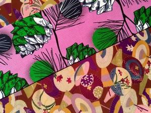 番傘と松ぼっくり・名古屋帯
