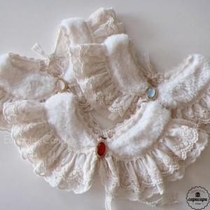 «即納» bijou fur cape 2colors ビジューファーケープ 付け襟 つけ襟
