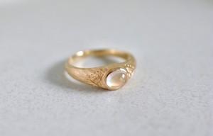 K18 moonstone -ring-