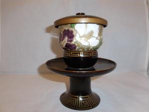 輪島塗高台蓋付茶托 Urushi lacquer saucer for tea