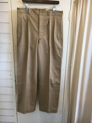 50s French Army M-52 2tuck chino trousers