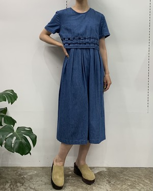 MADE IN INDIA coldwater creek denim one-piece【M位】