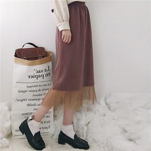 裾レース・ニットスカート