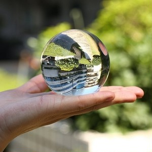 パワーストーン インスタ 映え 50 mm クラス B 高精度品 人造 水晶 クリスタル
