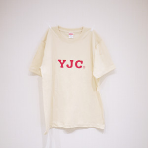 T-SHIRT NATURAL×RED / YJC-1709r