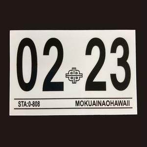 ハワイ 車検ステッカー 2023年2月 (インスペクションステッカー)