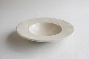 y-1050 粉引 円盤鉢