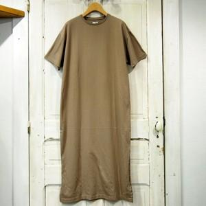 CIOTA women's スビン30/2吊り天竺 半袖TシャツOP CSL-23 - MOCHA