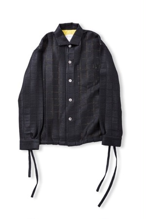 Leh Wing Collar Shirts (Black / size:M) [LEH_693]
