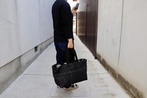"""""""限定""""デニム生地のトート型メッセンジャーバッグMサイズ 取手ロング"""