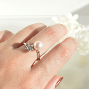 《受注制作》Star pearl ring #12〜#17 / SV925 /