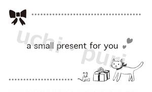 名刺サイズカード(10面付)プレゼント用タグ