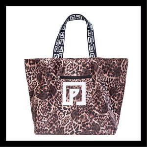 POLYPLUS P-GRAM Strap BIG Tote Bag Leopard