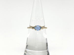 Noblesse ring ー gold x pale blue ー