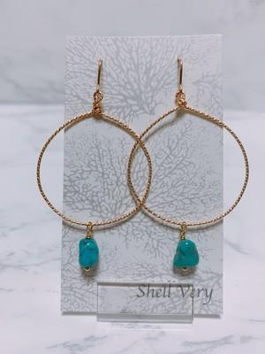《14kgf》hoop turquoise