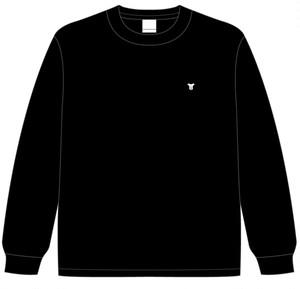 胸刺繍ワンポイント ロングTシャツ