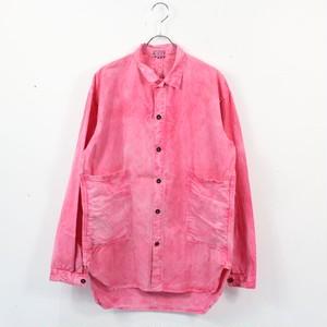 TENDER CO / テンダー   TYPE420TAILSHIRTコチニール染めポケット付きシャツ   2   レッド系