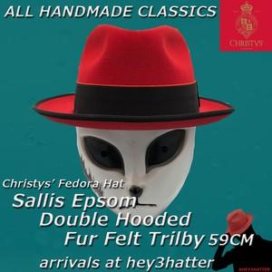 クリスティーズ★Sallis Epsom Double Hooded Fur Felt 【RED】59CM