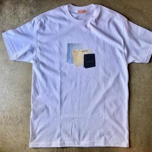 LES CINQ LETTRES.  (レサンクレトル) Shoppers プリント Tシャツ