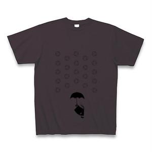 理系Tシャツ【天気記号/あられ/チャコール黒】-(Scien-T'st)Weather Symbol/SnowPellets/Charcoal-Black